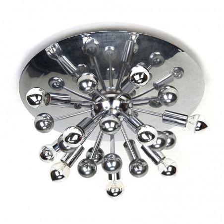 Vintage chrome sputnik lamp ceiling or wall model