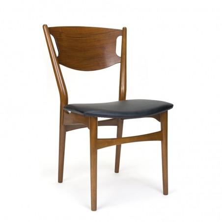 Teakhouten vintage Deense eettafel stoel