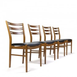 Danish vintage set of 4 Farstrup chairs with high backs