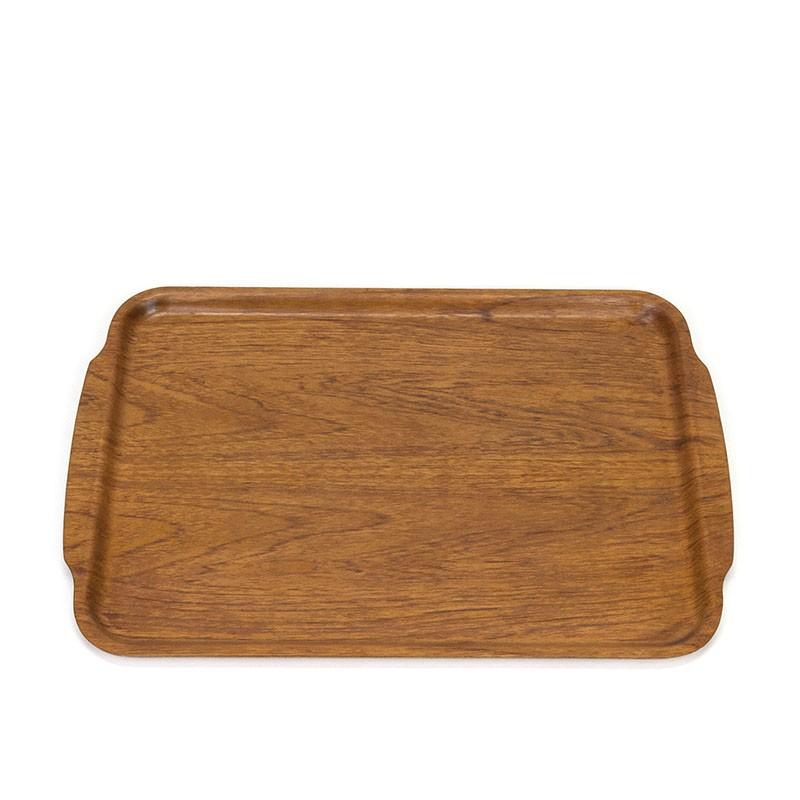 Large teak vintage Silva tray