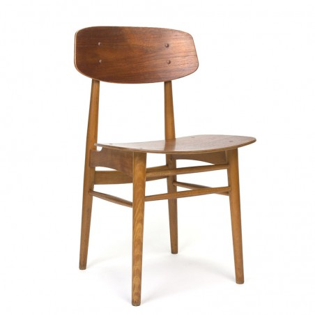 Danish vintage dining table chair in wood fifties