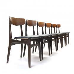 Set of 6 vintage Schiønning and Elgaard chairs