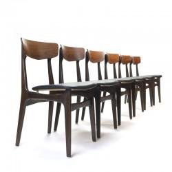 Set van 6 vintage Schiønning en Elgaard stoelen