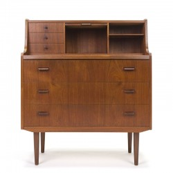 Teak Danish vintage secretary from the sixties