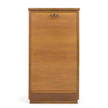 Oak vintage Danish filing cabinet