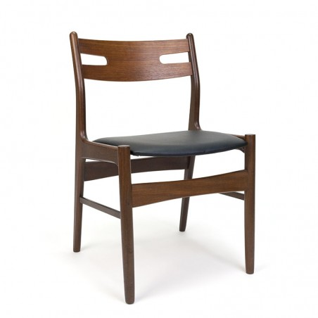 Teak vintage Danish dining table chair from the sixties