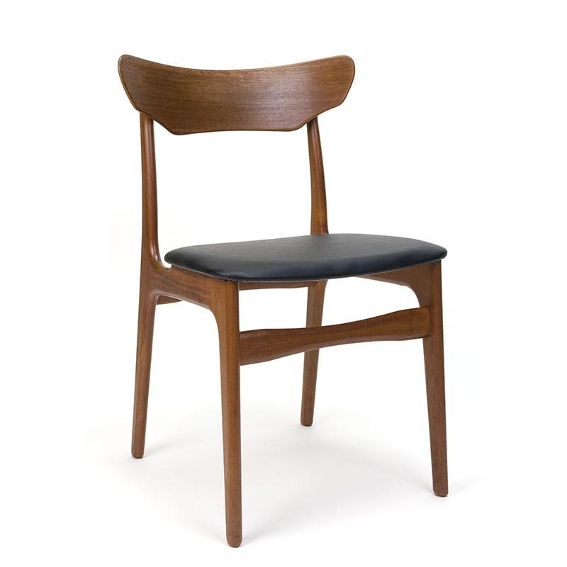 Danish vintage teak dining table chair