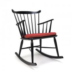 Vintage schommelstoel ontwerp Børge Mogensen voor FDB Møbler