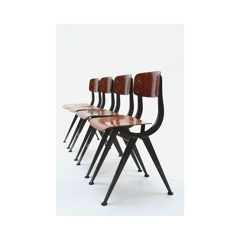 Industrial childrens chairs set of 4