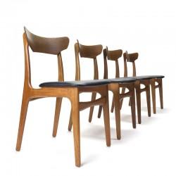 Set van 4 vintage Schiønning en Elgaard stoelen