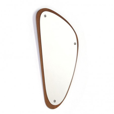 Small Danish vintage mirror with organic shape