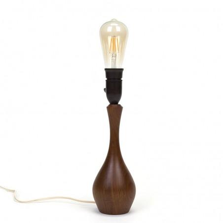 Teak vintage Danish table lamp
