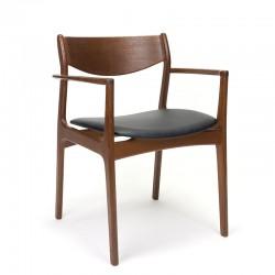 Vintage teakhouten stoel met armleuning ontwerp P.E. Jørgensen