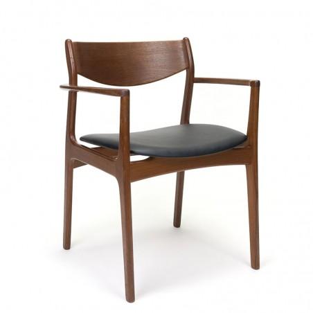 Vintage teak chair with armrest design P.E. Jørgensen