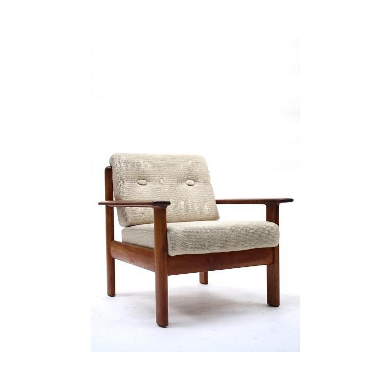 Teakhouten fauteuil