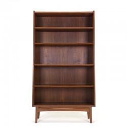 Teak Danish vintage bookcase design Johannes Sorth