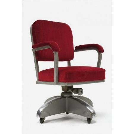 Bureau stoel met rode bekleding