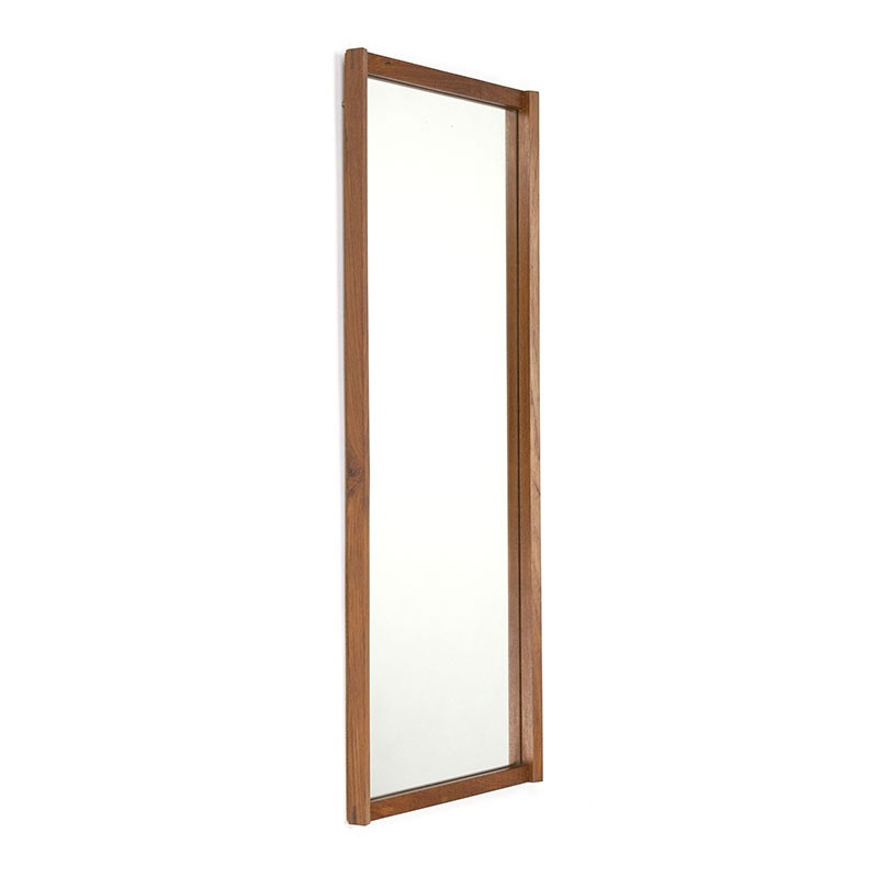 Danish vintage mirror narrow teak model