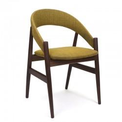Deense vintage bureaustoel met groene bekleding