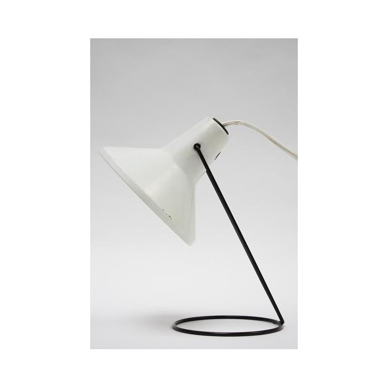 Tafellamp jaren 50/60 witte kap