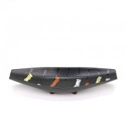 Black vintage earthenware plate