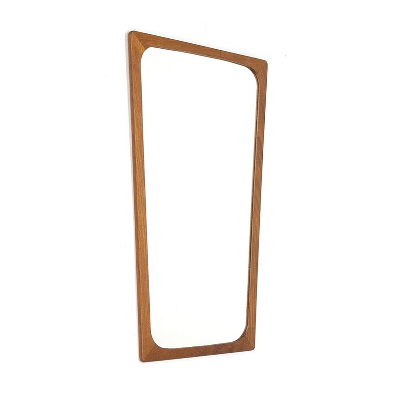 Danish vintage mirror with tapered design