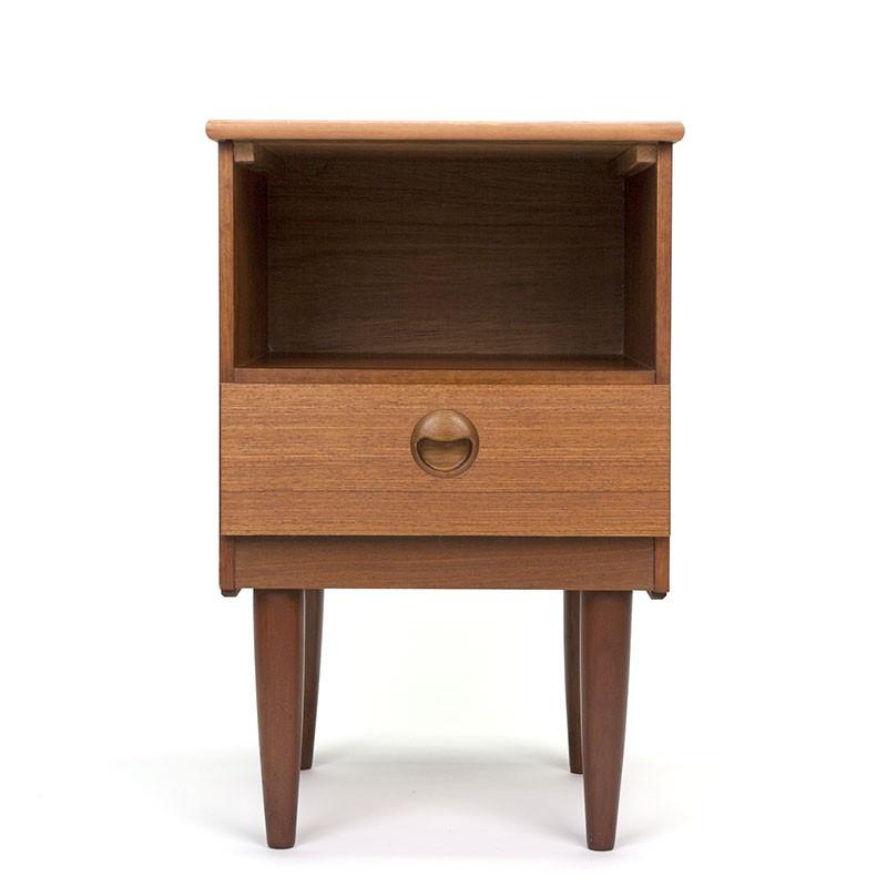 Teak bedside table sixties vintage