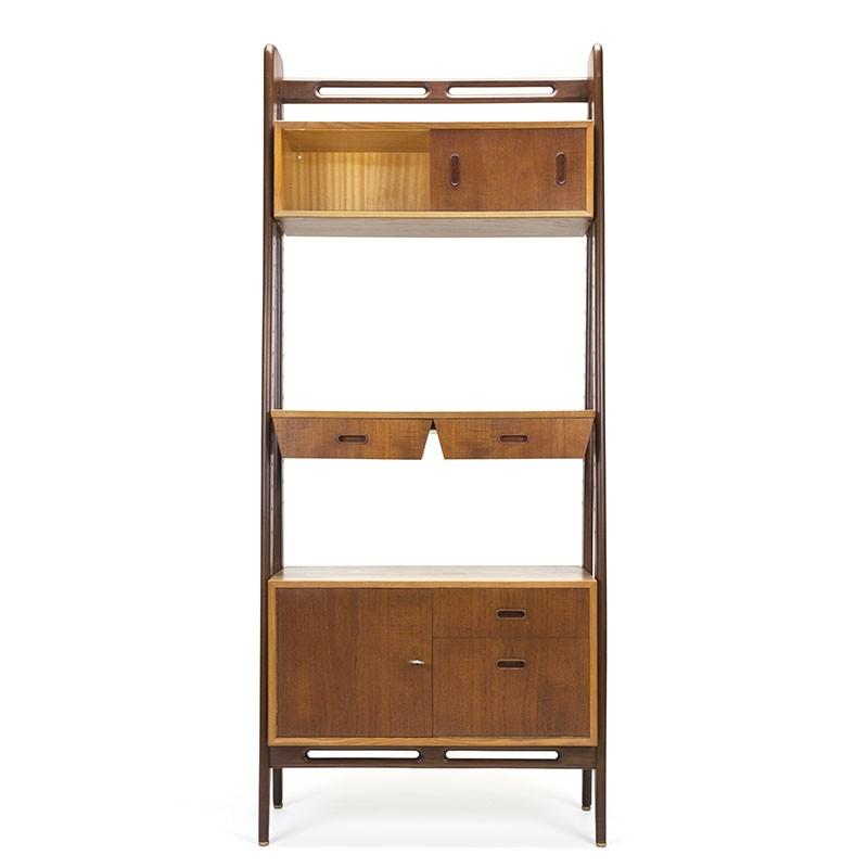 Teak / oak vintage wall system or room divider