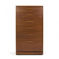 Vintage teak tallboy chest of drawers from Austinsuite
