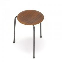 Deense vintage kruk in stijl van Arne Jacobsen