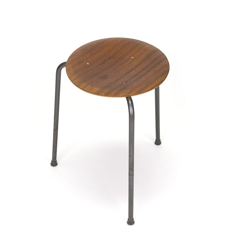 Danish vintage stool in style by Arne Jacobsen