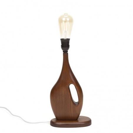 Vintage teak Danish table lamp with organic design