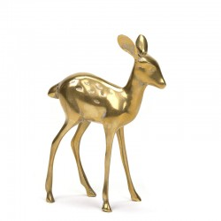 Vintage brass deer from the sixties