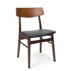 Teakhouten eettafel stoel Deens vintage model