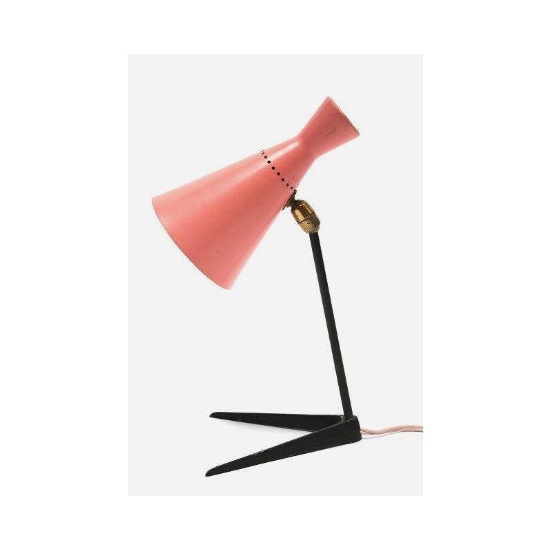 Pink table lamp 1950's