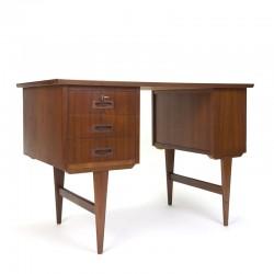 Vintage Deens teakhouten klein model bureau