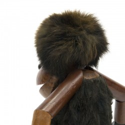 Vintage teak troll monkey in Kay Bojesen style
