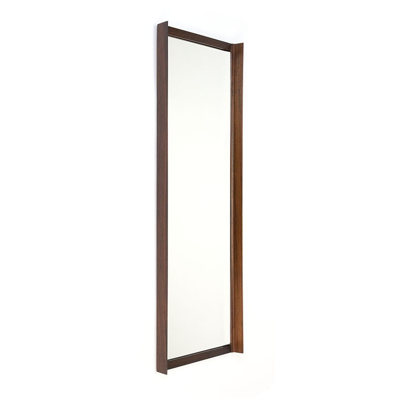 Rosewood vintage mirror high and narrow model