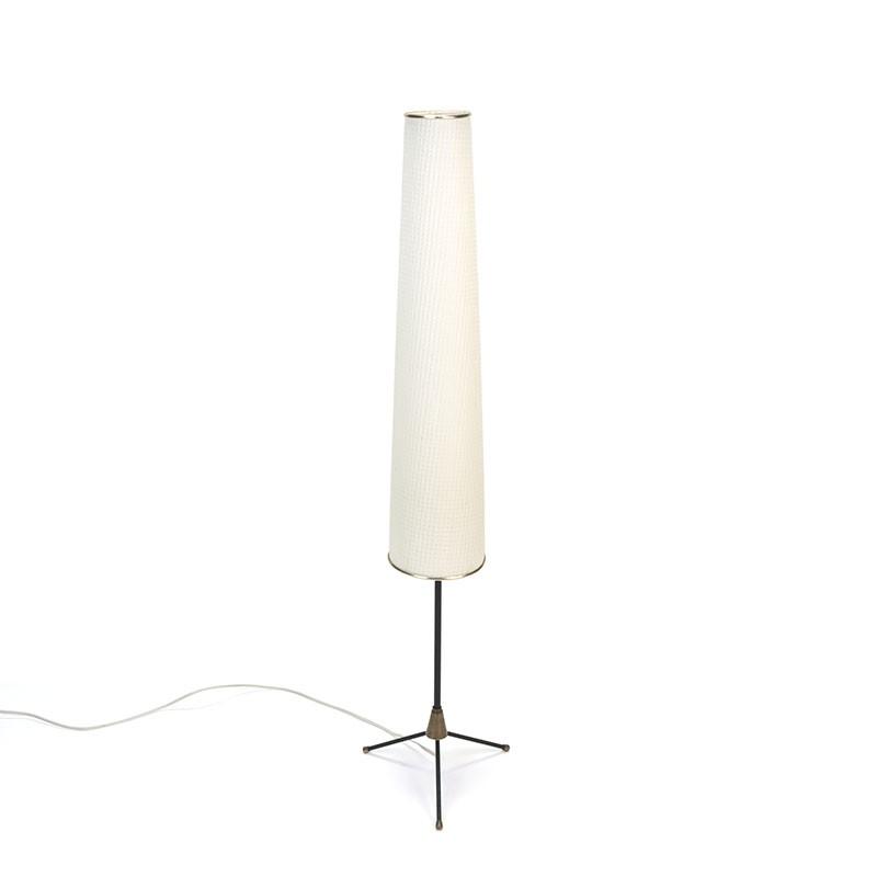 Vintage vloerlamp met hoge lampenkap