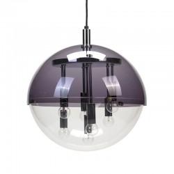 Plexiglazen vintage hanglamp met chromen details