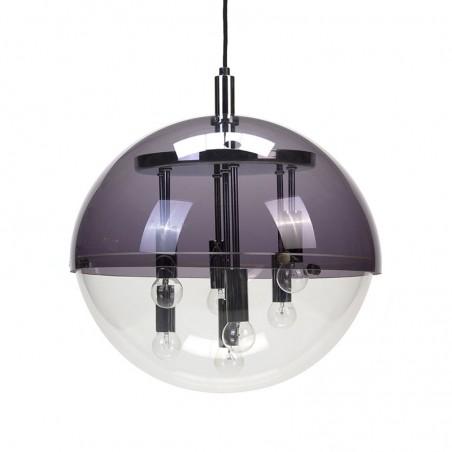 Plexiglass vintage pendant with chrome details