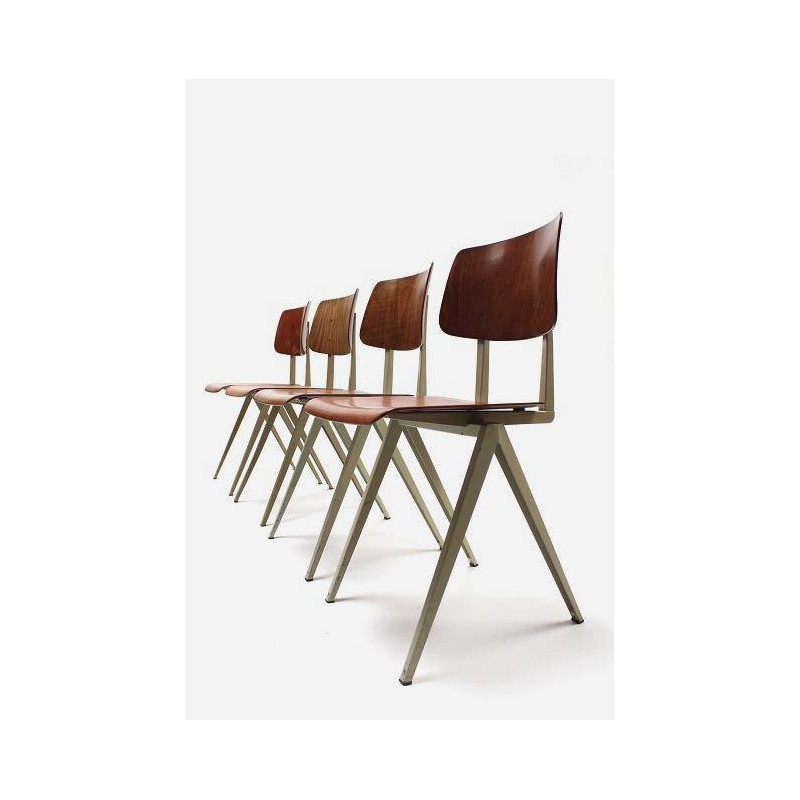 Industriele stoelen set van 4