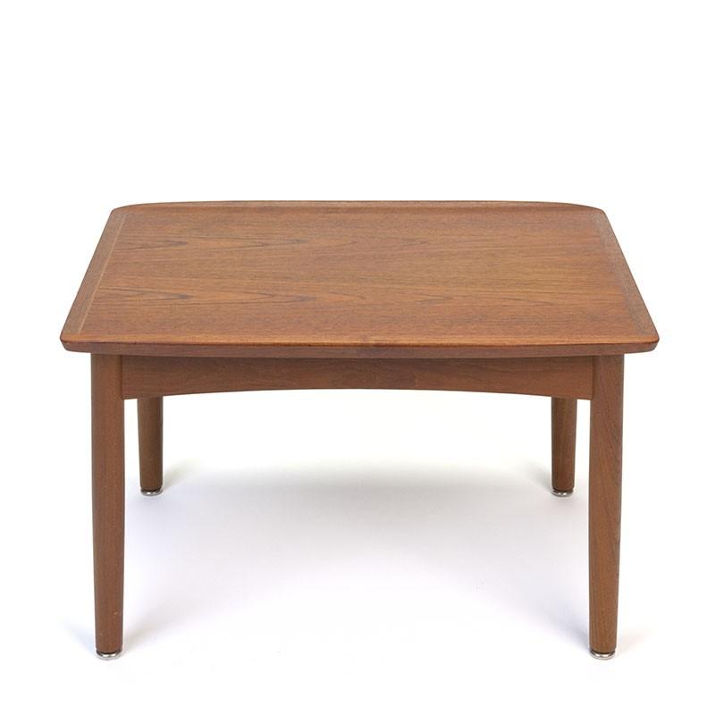 Teak vintage vintage side table with raised edge