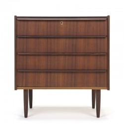 Vintage dresser with 4 drawers in teak from Denmark