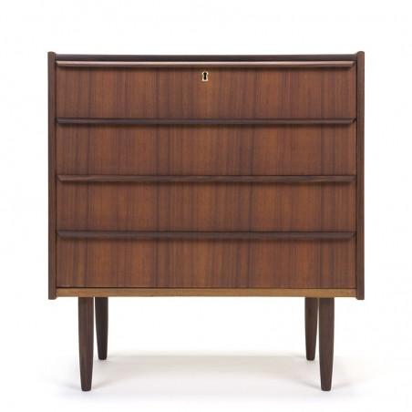 Vintage dresser with 4 drawers in teak from Denmark