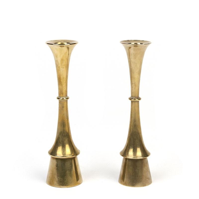 Set of 2 vintage Hysslop candleholders