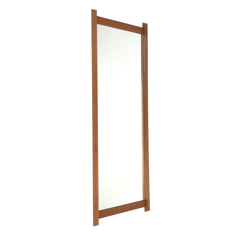 Large vintage teak Danish mirror