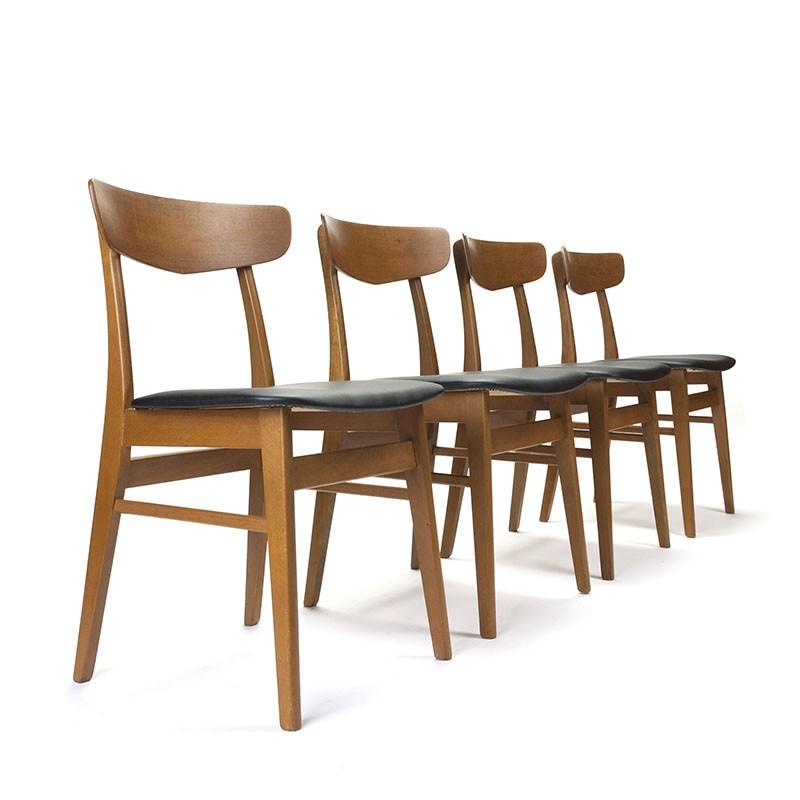 Deense set van 4 vintage Farstrup stoelen