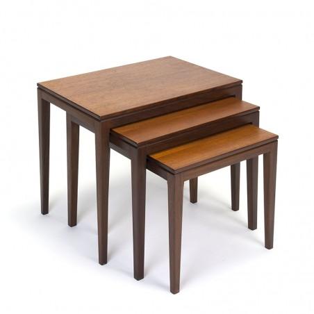 Vintage nesting tables in teak sixties