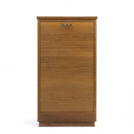 Oak vintage Danish file cabinet small model